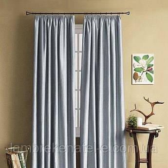 Готовые шторы в зал спальню, из серого атласа, тюль дополнительно