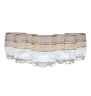 Набор стаканов декорированных под золото VERSACE 275 мл 6 шт ArtCraft 31-146-235