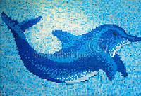 Морской пейзаж из Китайской мозаики