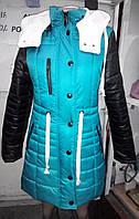 Женская курточка с капюшоном на силиконизированном синтепоне