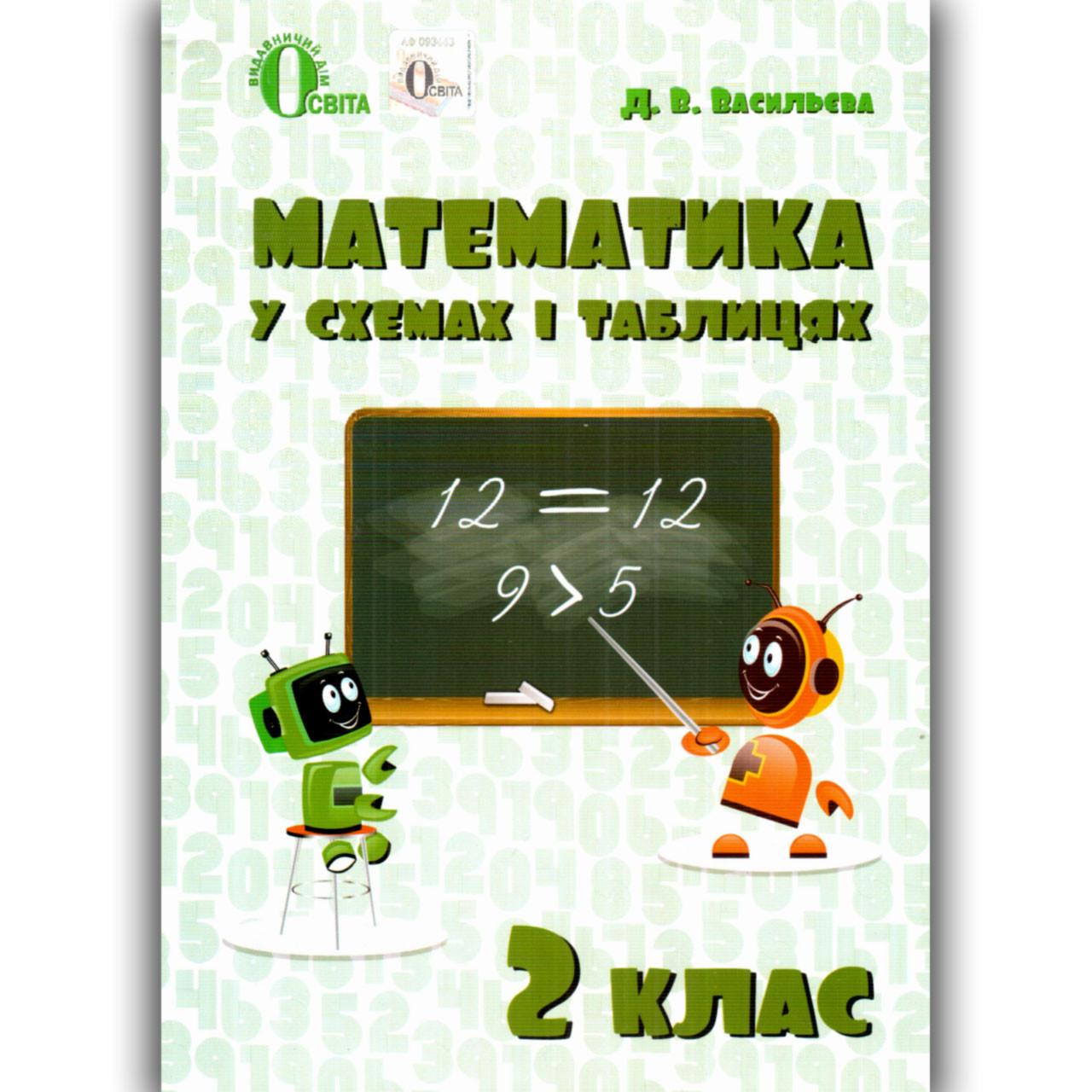 Математика у схемах і таблицях 2 клас Авт: Васильєва Д. Вид: Освіта