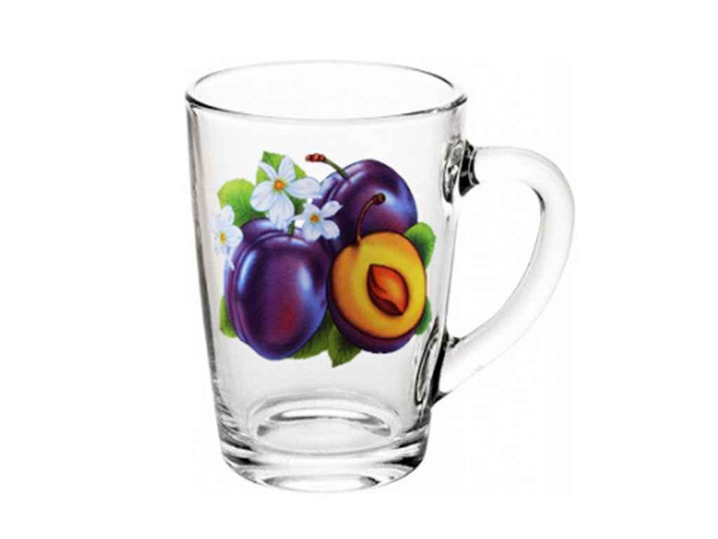 Чашка скляна Капучіно 300мл Слива 07с1334 ТМ ОСЗ