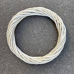 Кольцо, основа для венка  из лозы 25 см. светлое