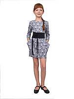 Стильное платье для девочки М-1022 коттон х\б, фото 1