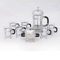 Набор 8 предметов: Френч-пресс1000мл, сахарница и 6 чашек по 200мл Krauff