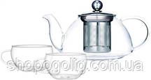 Набор 3 предмета: Заварник 800мл и две чашки по 200мл Krauff 26-177-028