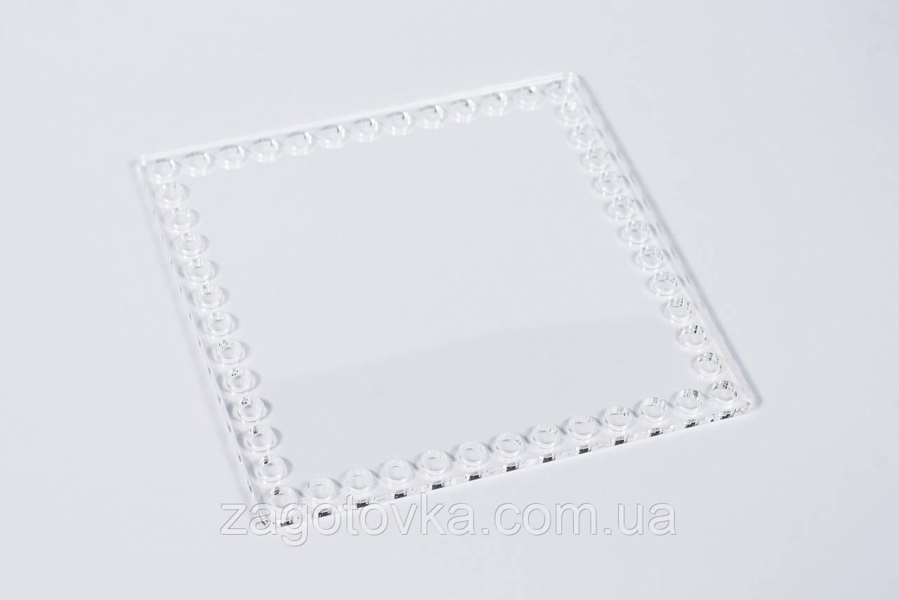 Прямокутна заготівля з прозорого акрилу 20,5×17см