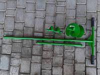 Бур садовый с двумя насадками 100,150 мм и удлинитель 500 мм