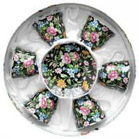 Набор чайный: 6 чашек 220 мл + 6 блюдец Белый цветок Оселя 21-245-001