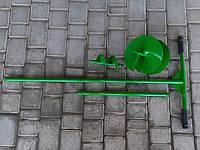 Бур садовый с удлинителем 500 мм и двумя насадками 100 и 200 мм