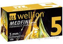 УНИВЕРСАЛЬНЫЕ иглы Wellion MEDFINE plus для инсулиновых шприц-ручек 5 мм (31G x 0,25 мм)