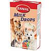 Sanal Milk Drops 125гр -Молочные дропсы для собак+ Витамины A, D, E (SD2305) в таблетках