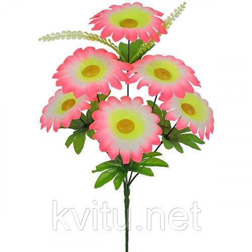 Искусственные цветы букет ромашек, 43см