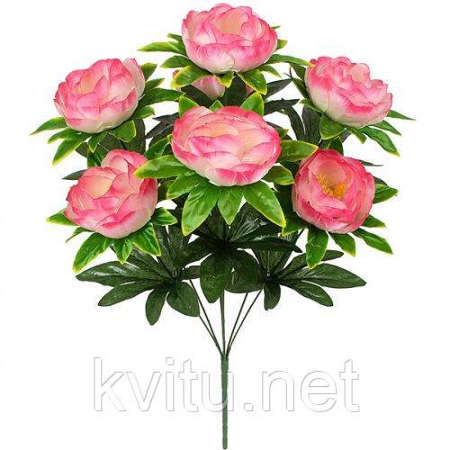 Искусственные цветы букет пион атлас, 54см