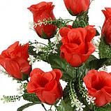 Искусственные цветы букет атласный роза бутон кашка, 53см, фото 2
