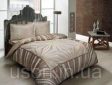 Комплект постельного белья сатин Tac размер евро  Venus Kahve