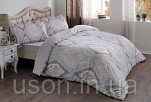 Комплект постельного белья сатин Tac размер евро  Vales Pembe