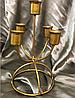 Подсвечник металлический лофт бронза на 5 свечей