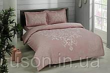Комплект постельного белья сатин Tac размер евро Anissa Pink