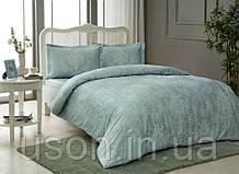 Комплект постельного белья сатин Tac размер евро Carol Mint