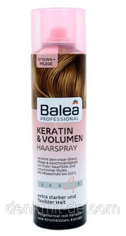 Лак с кератином для объема волос Balea Keratin & Volumen Haarspray 250 мл