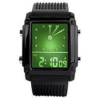 Часы наручные электронные, LED Skmei 0814, черные, в металлическом боксе