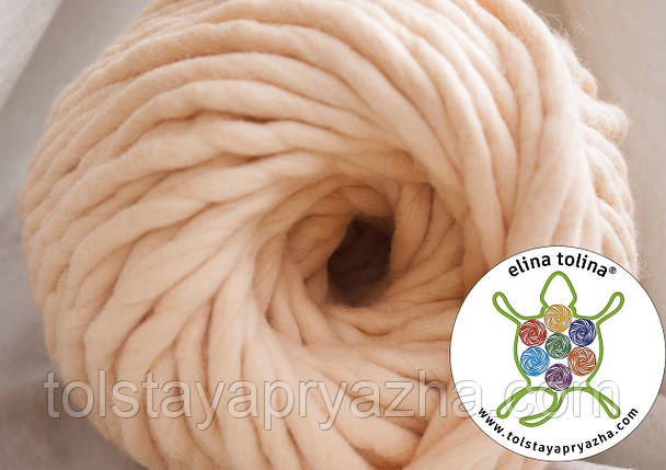 Товста пряжа Крос (персик), фото 2