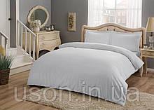 Комплект постельного белья сатин Tac размер евро Basic Grey