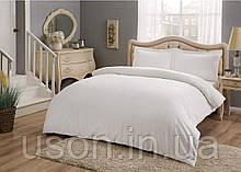 Комплект постельного белья сатин Tac размер евро Basic White