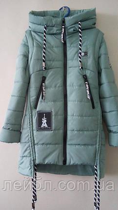 Весняна куртка-жилетка для дівчинки, фото 2