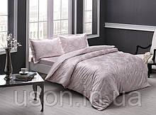 Комплект постельного белья сатин Tac размер евро Lucca Pudra