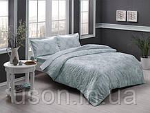 Комплект постельного белья сатин Tac размер евро Lucca mint