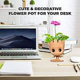 Цветочный Горшок в стиле Грут GROOT для канцелярии и цветов. Вазон Подвазонник (Стражи Галактики), фото 9