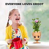 Цветочный Горшок в стиле Грут GROOT для канцелярии и цветов. Вазон Подвазонник (Стражи Галактики), фото 7