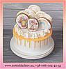 Торт для девочки на 2 годика, с пряничными топперами