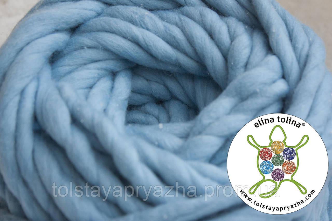 Толстая пряжа Кросс (голубой)