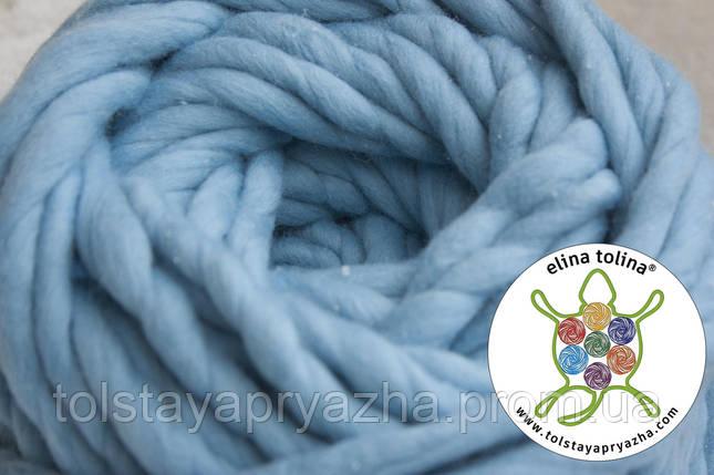 Толстая пряжа Кросс (голубой), фото 2