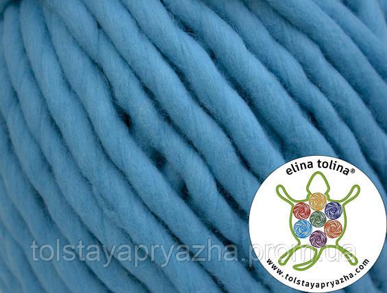 Толстая пряжа Кросс (ярко-голубой), фото 2