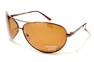 Чоловічі сонцезахисні окуляри Еверон P1028 D репліка Коричневі з поляризацією