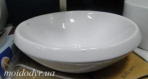 Умивальник накладний керамічний Sonet Bolo 400 мм круглий (настільний)