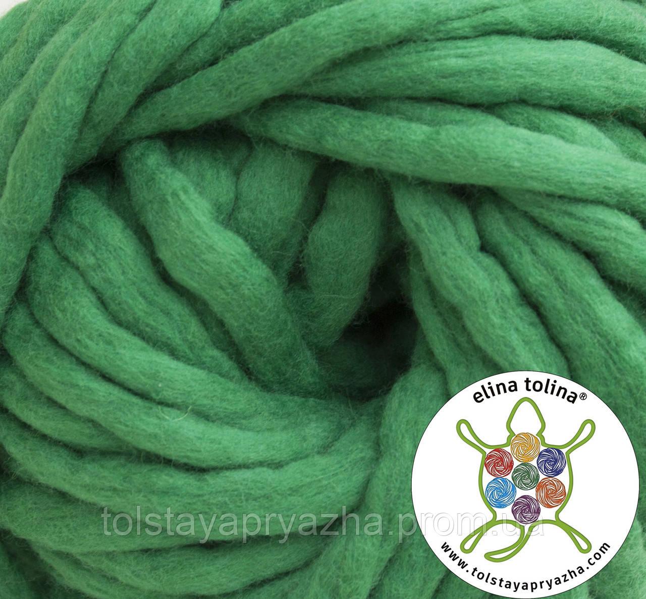 Товста пряжа Крос (зелений)