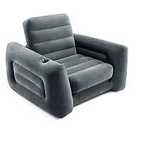 Кресло надувное 117х224х66 см Intex 66551 NP, черное