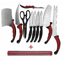 Набір кухонних ножів 10 в 1 Contour Pro Knives з магнітним утримувачем
