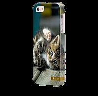 Чехол-накладка для iPhone 4/4s Киця