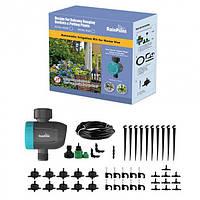 Автоматическая Система Капельного Полива 30м RainPoint Садовых Растений и Цветов, с таймером воды