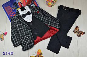 Ошатний костюм 4-ка котонновый на хлопчика Люкс якості 1-3 року