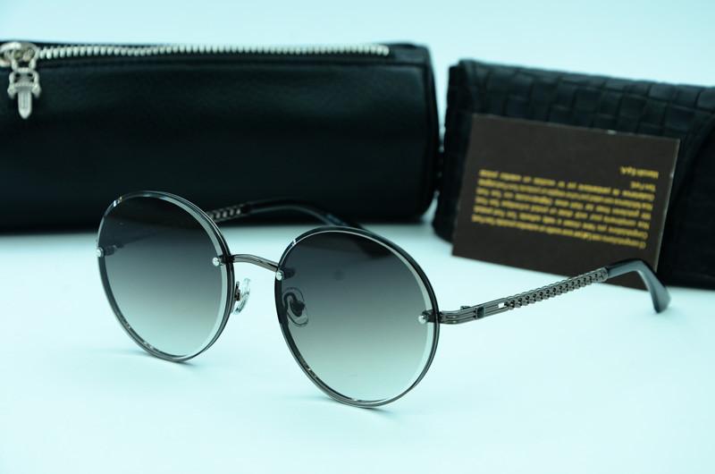 Женские солнцезащитные круглые очки 31453 с123