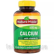 Nature Made, Кальций с витаминомD3, 600мг, 100мягких таблеток