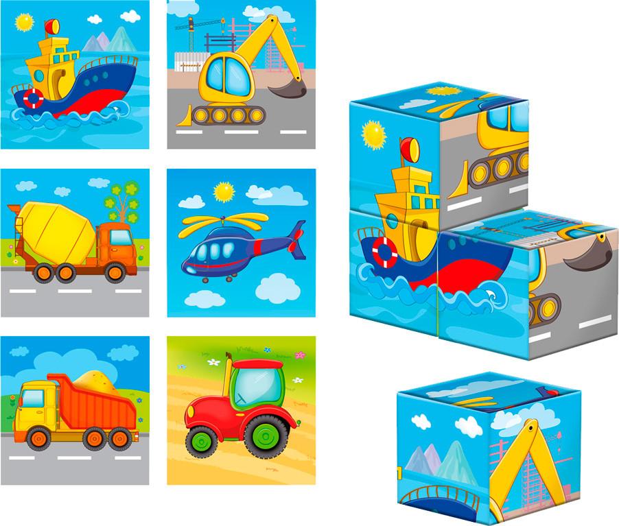 """Гра """"Кубики дерев'яна яні. Транспорт"""" №ZB1001-03"""