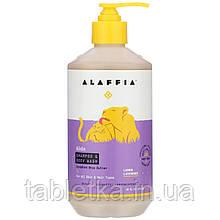 Alaffia, Детский шампунь и гель для душа, с запахом лимона и лаванды, 476мл (16жидк.унций)